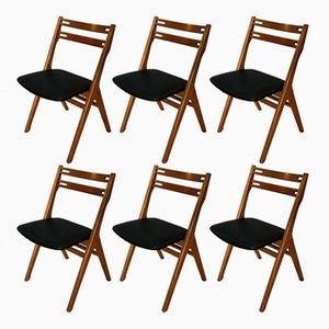 Skandinavische moderne personalisierbare Stühle von Arne Vodder für Sibast, 1960er, 6er Set