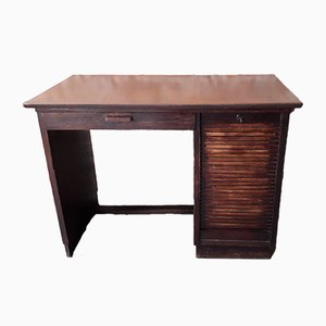 Schreibtisch mit Rolltüre für Kinder, 1920er