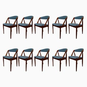 Rosewood Customizable Model 31 Chairs by Kai Kristiansen for Schou Andersen, 1960s, Set of 10
