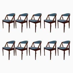 Sedie nr. 31 in palissandro personalizzabili di Kai Kristiansen per Schou Andersen, anni '60, set di 10