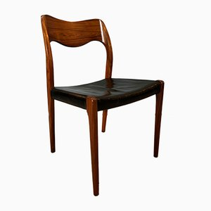 Personalisierbare Modell 71 Stühle aus Palisander von Arne Hovmand-Olsen für JL Møllers, 1950er, 8er Set