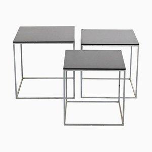 Tavolini a incastro PK71 di Poul Kjaerholm per E. Kold Christensen, anni '60