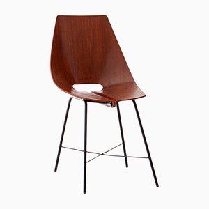 Italienischer Stuhl aus Schichtholz von Società Compensati Curvati, 1950er