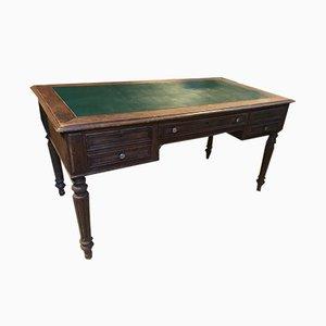 Vintage French Wood & Leather Desk