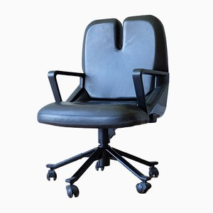 P55 Leather Office Chair by Giorgetto Giugiaro for Tecno, 1980s