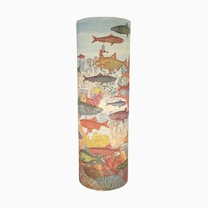 Lámpara de mesa Aquarium italiana de Barnaba Fornasetti para Antonangeli Illuminazioni, años 90