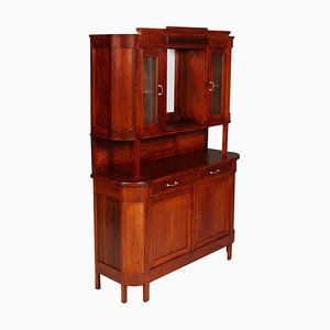 Antique Art Nouveau Italian Fir and Walnut Sideboard from Cucchi & Sola Ammobigliamenti Torino