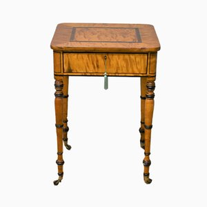 Antique Regency Satinwood Writing Table