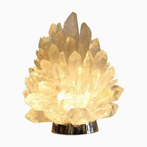 Lampada da tavolo Liberty in cristallo di Demian Quincke