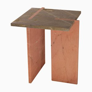 Inlay Marble Side Table by Nick Ross