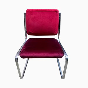 Roter Vintage Beistellstuhl, 1970er