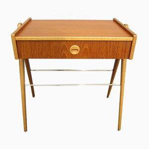 Skandinavischer Nachttisch aus Teak, 1950er