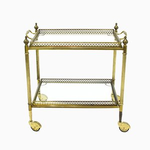 Italian Brass Bar Cart, 1960s