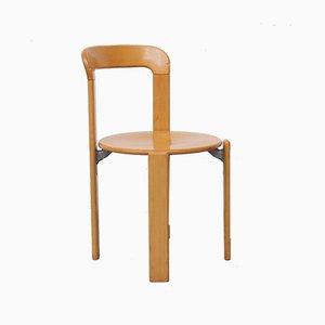 Stapelbare Vintage Stühle aus Buche & Schichtholz von Bruno Rey für Dietiker, 1970er, 4er Set