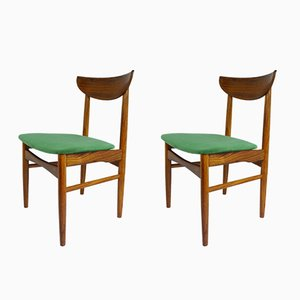 Danish Dining Chairs from Dyrlund, 1960s, Set of 2
