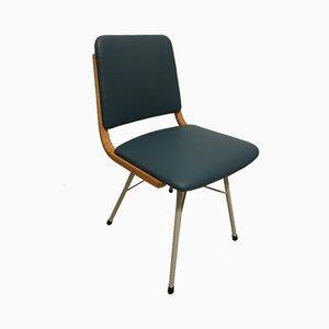 Esszimmerstühle aus Metall, Holz & Öko-Leder, 1960er, 2er Set