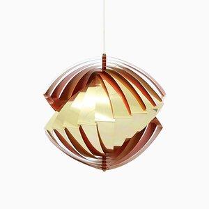 Lámparas colgantes Konkylie de Louis Weisdorf para Lyfa, años 60. Juego de 2