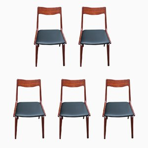 Vintage Boomerang Teak Dining Chairs by Alfred Christensen for Slagelse Møbelværk, Set of 5