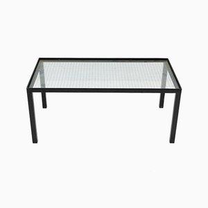 Tavolino in metallo e vetro, anni '50