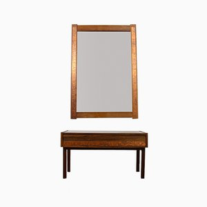 Danish Palisander Console & Mirror Set from Hølmer-Hansen, 1960s