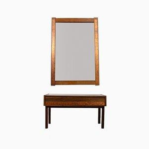 Juego de consola y espejo danés de palisandro de Hølmer-Hansen, años 60