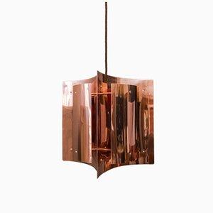 Lámpara colgante danesa de cobre de Svend Aage Holm Sørensen, años 60