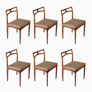 Mid-Century Dining Chairs by Johannes Andersen for Christian Linneberg, Set of 6