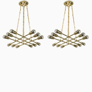 Chandeliers by Rupert Nikoll, 1950s, Set of 2