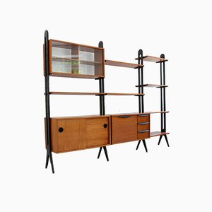 Large Mid-Century Teak Shelving Unit