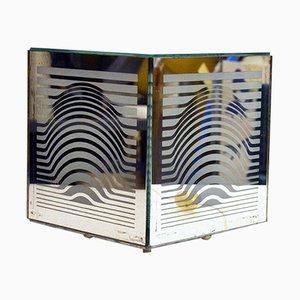 Lámpara de mesa de espejo de Victor Vasarely, años 60