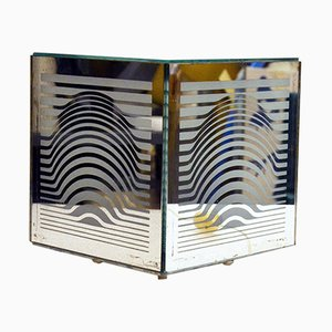 Optical Mirrored Table Lamp by Victor Vasarely, 1960s