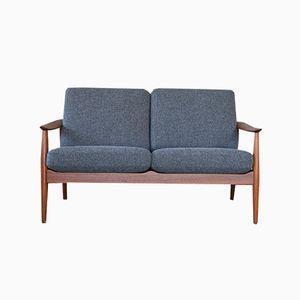 Dänisches Vintage Sofa mit Gestell aus Teak von Arne Vodder für France & Son, 1960er