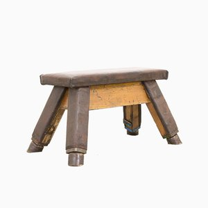 Vintage Leather Gymnastics Bench