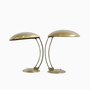 Model 6764 Brass Table Lamp by J.T. Kalmar for Kaiser Idell, 1940s