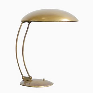 Model 6764 Brass Table Lamp by J.T. Kalmar for Kaiser Idell, 1940s