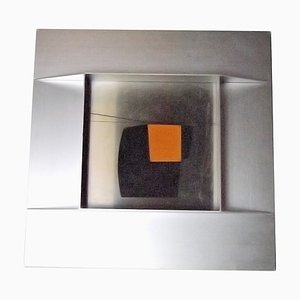 Kunstobjekt mit Stahlrahmen von Giorgio Tonti für Studio Zero Milano, 1970er