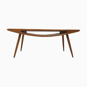 Danish Teak & Oak Smile Coffee Table, 1960s