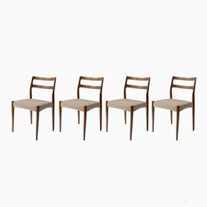 Modell Anne Stühle aus Teak von Johannes Andersen für Uldum Furniture Factory, 1960er, 4er Set