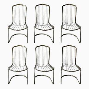 Chaises en Métal, 1980s, Set de 6