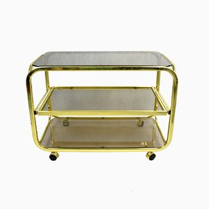 Glass Bar Cart from Huwa-Spiegel Parsol, 1970s