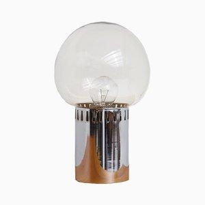 Tischlampe aus Chrom & Rauchglas, 1960er