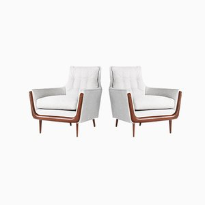 Mid-Century Gondola Style Lounge Chairs from Deville, Set of 2
