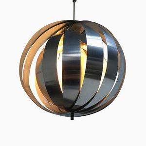 Lámpara de techo holandesa era espacial de aluminio y metal, años 60