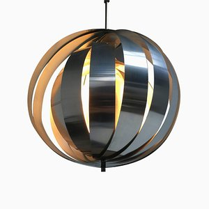 Space Age Dutch Aluminum and Metal Ceiling Lamp, 1960s