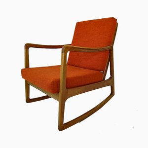 Rocking Chair Senator en Teck par Ole Wanscher pour France & Son, 1960s