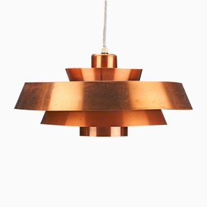 Copper Nova Pendant by Jo Hammerborg for Fog & Mørup, 1960s