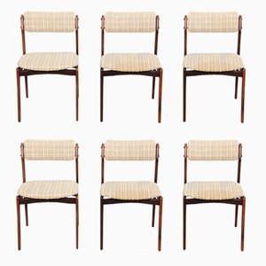 Model 49 Rosewood Dining Chairs by Erik Buch for Oddense Maskinsnedkeri, Set of 6