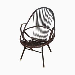 Niederländischer Sessel aus Rattan, 1960er