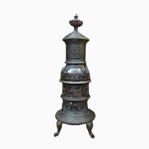 Antike Kaminlampe aus Gusseisen, 1900er