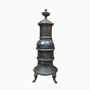 Antique Cast Iron Fire Beacon, 1900s